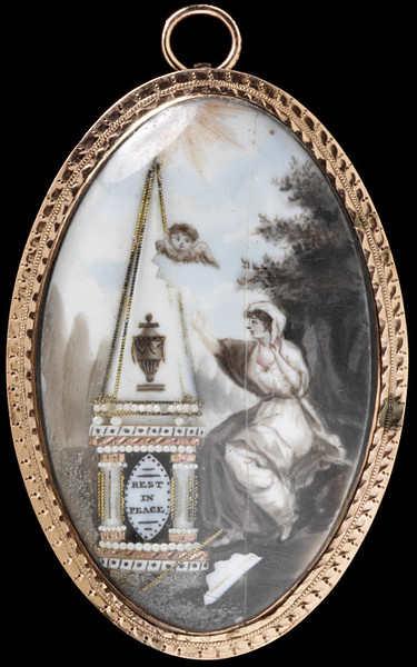 18th century grisaille enamel