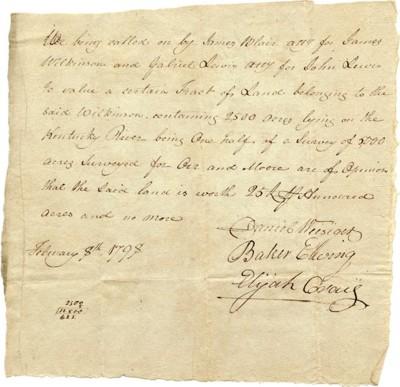 1798 Appraisal