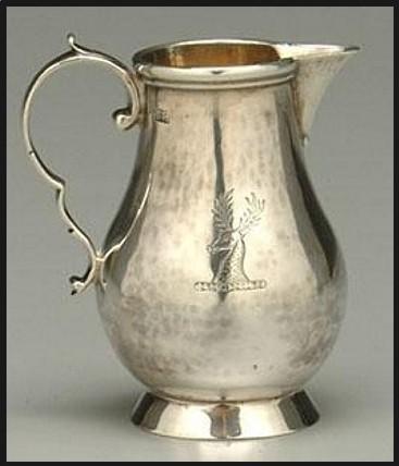 American coin silver milk jug 1751-1761