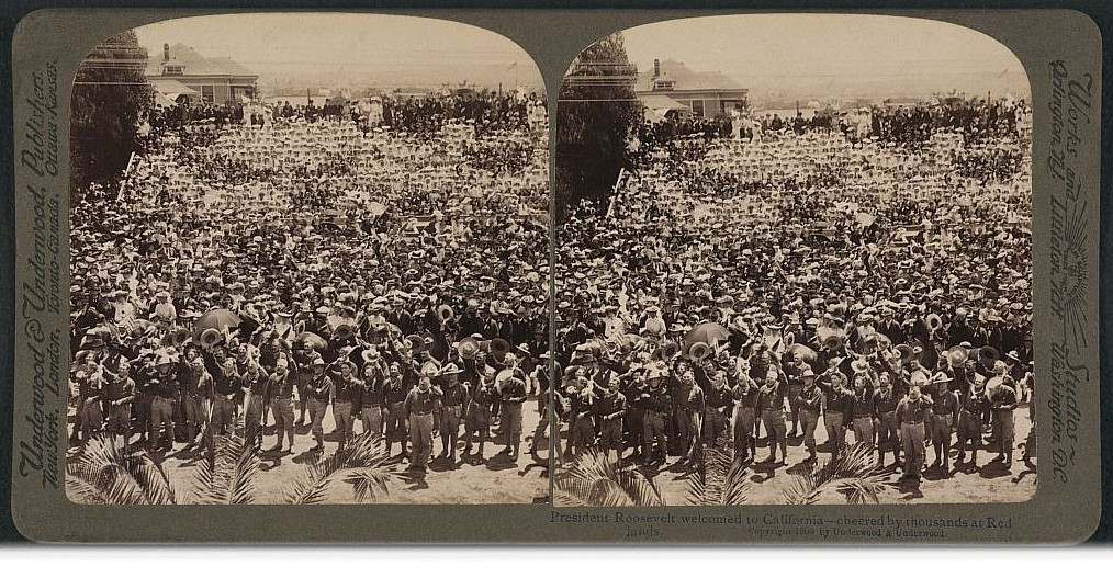 1903 President Roosevelt visits Redlands, Ca in the Inland Empire