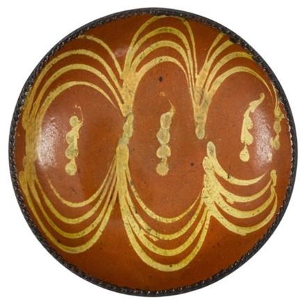 redware plate